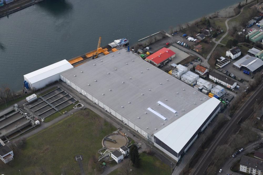Luftaufnahmen vom den Perimeter 1/3-NW der Altablagerung Kesslergrube zeigen den Baufortschritt auf dem Sanierungsgelände.