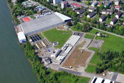 Luftaufnahmen vom den Perimeter 1/3-NW der Altablagerung Kesslergrube zeigen den Baufortschritt auf dem Sanierungsgelände. Quelle: Pressefoto Roche.