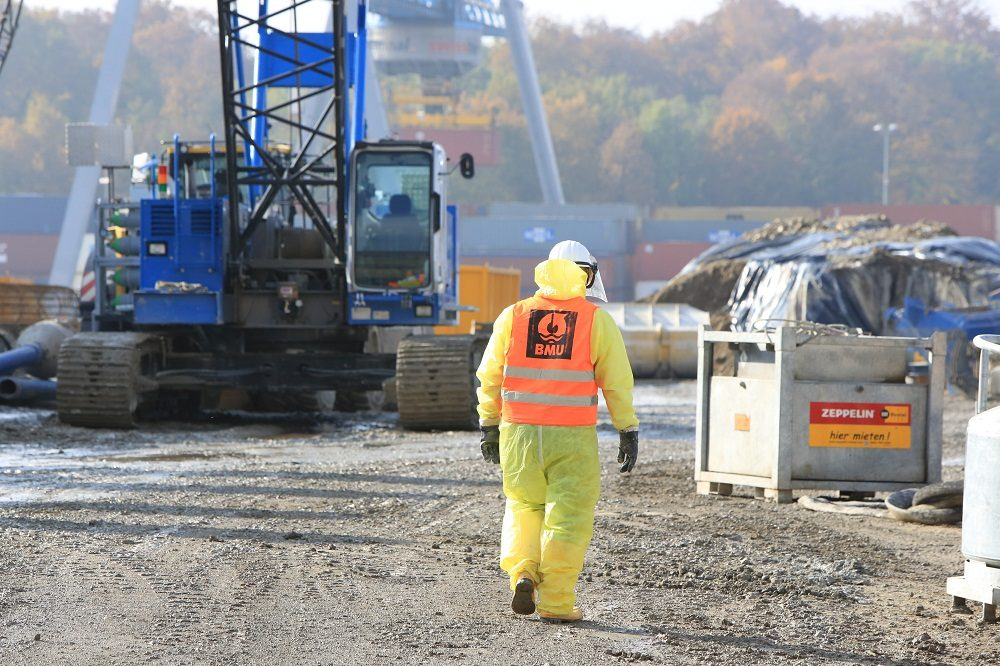 Blick auf Perimeter 1/3-NW der Altablagerung Kesslergrube (Aufnahmedatum: 27. Oktober 2016); Quelle: Pressefoto Roche