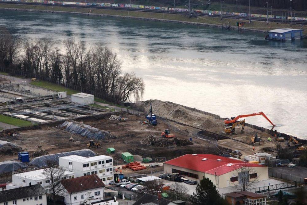 Blick auf den Perimeter 1 und den Schiffsanleger. (Aufnahmedatum: 27. Januar 2016); Quelle Pressefoto Roche