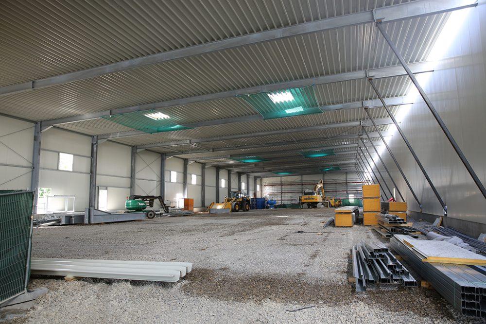 Blick in die im Aufbau befindliche Südhalle (Aufnahmedatum: 27. Juni 2017); Quelle: Pressefoto Roche.