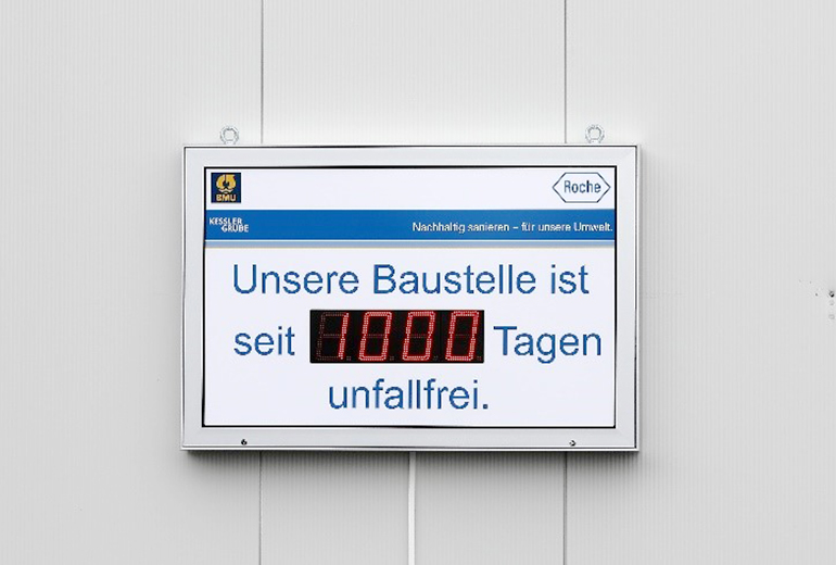 1.000 Tage arbeitsunfallfrei; Quelle: Pressefoto Roche.
