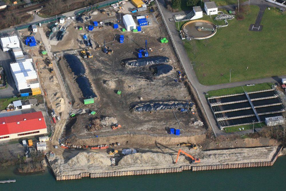 Luftbild von Perimeter 1/3-Nordwest (Aufnahmedatum: 6. Februar 2016); Quelle: Pressefoto Roche.