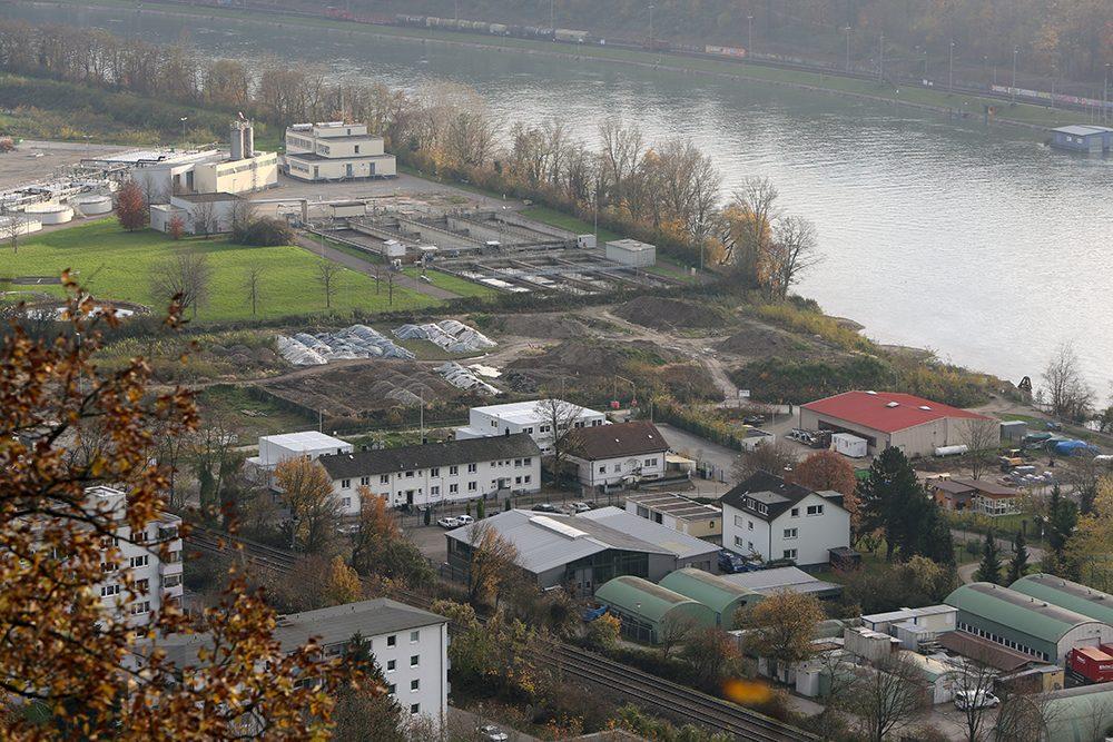 Aussicht vom Hornfelsen auf das Roche Gelände (Datum der Aufnahme: November 2014), Quelle: Pressefoto Roche