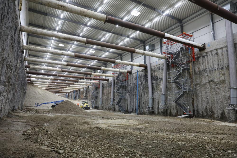Blick in das Baufeld Süd kurz vor dem Beginn der Rückverfüllung; Quelle: Pressefoto Roche