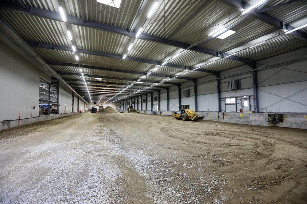 Die Wiederverfüllung des Baufeldes Nord wurde vergangene Woche mit der Verdichtung der letzten Lage abgeschlossen; Quelle: Pressefoto Roche