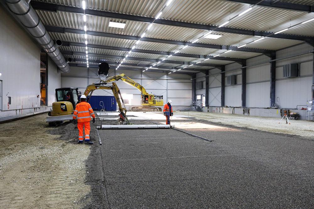 Das Baufeld Nord wird für die Installation der Abluftreinigungsanlage vorbereitet; Quelle: Pressefoto Roche