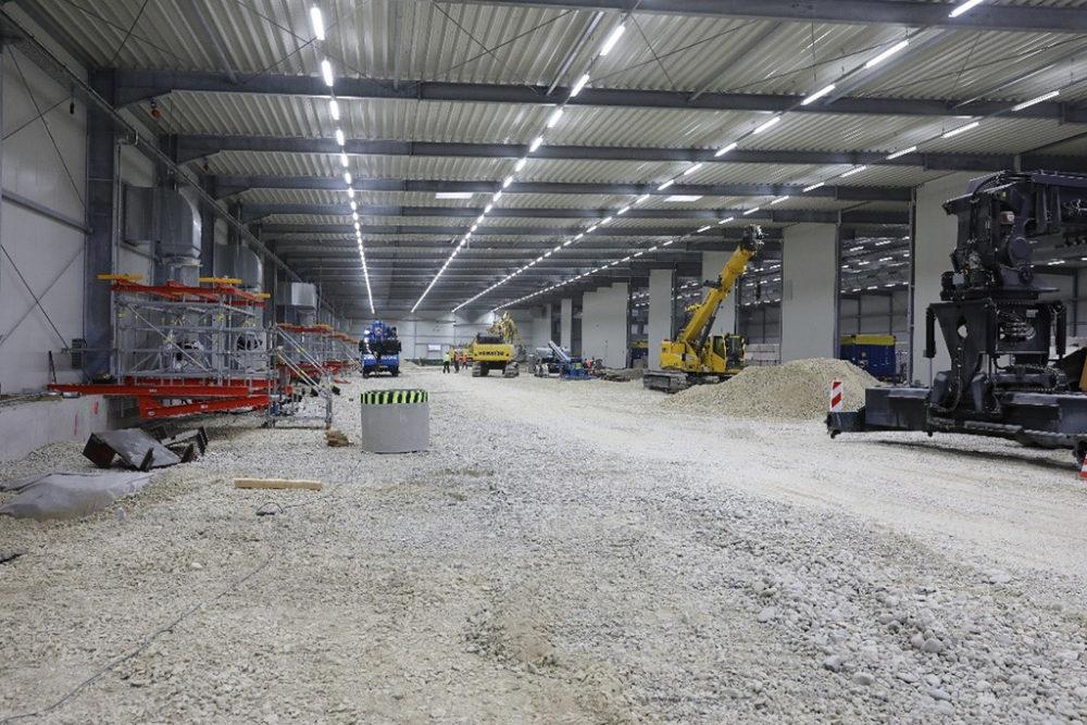Das Baufeld Süd ist geräumt und wird für den voraussichtlich Mitte Januar 2019 beginnenden Aushub vorbereitet;  Quelle: Pressefoto Roche