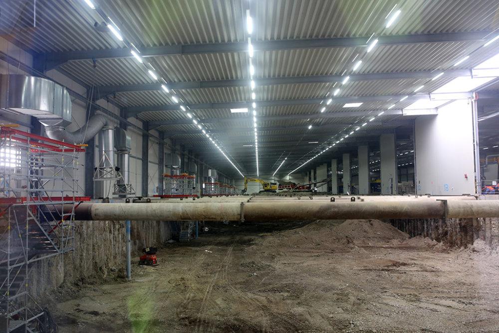 Die Sanierungsarbeiten auf dem Baufeld Süd schreiten planmäßig voran.