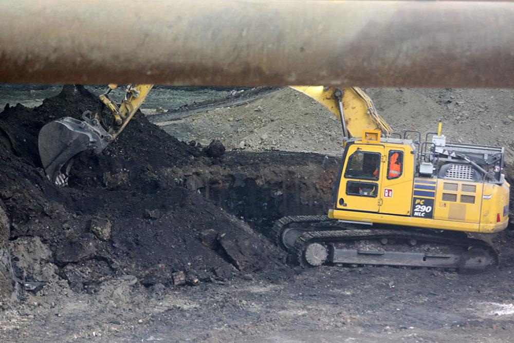 Per Ende Mai wird im Baufeld Süd eine Aushubtiefe von 6 Metern erreicht sein. Quelle: Pressefoto Roche