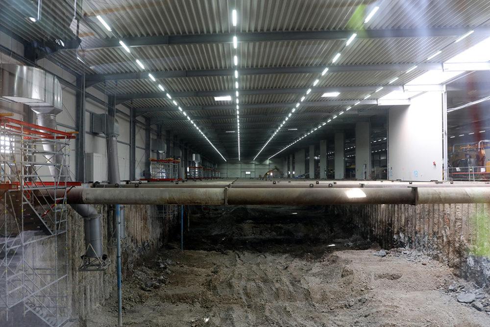 Inzwischen wurden im Baufeld Süd 54.000 Tonnen Erdreich abtransportiert und eine Aushubtiefe von acht Metern erreicht. Quelle: Pressefoto Roche