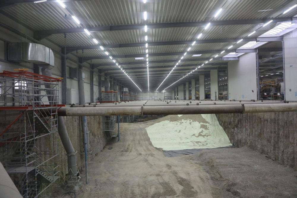 Das Baufeld Süd ist komplett ausgehoben.  Quelle: Pressefoto Roche.