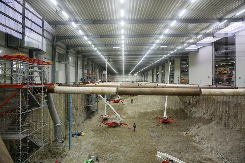 Die gründliche Reinigung von Baufeld Süd und Baufeld Mitte konnte vergangene Woche abgeschlossen werden.  Quelle: Pressefoto Roche.