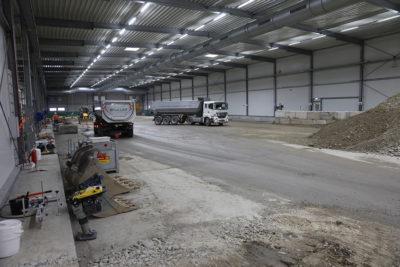 Die Rückverfüllung des Baufelds Süd erfolgt über die Logistikfläche und das Baufeld Mitte. Quelle: Pressefoto Roche.