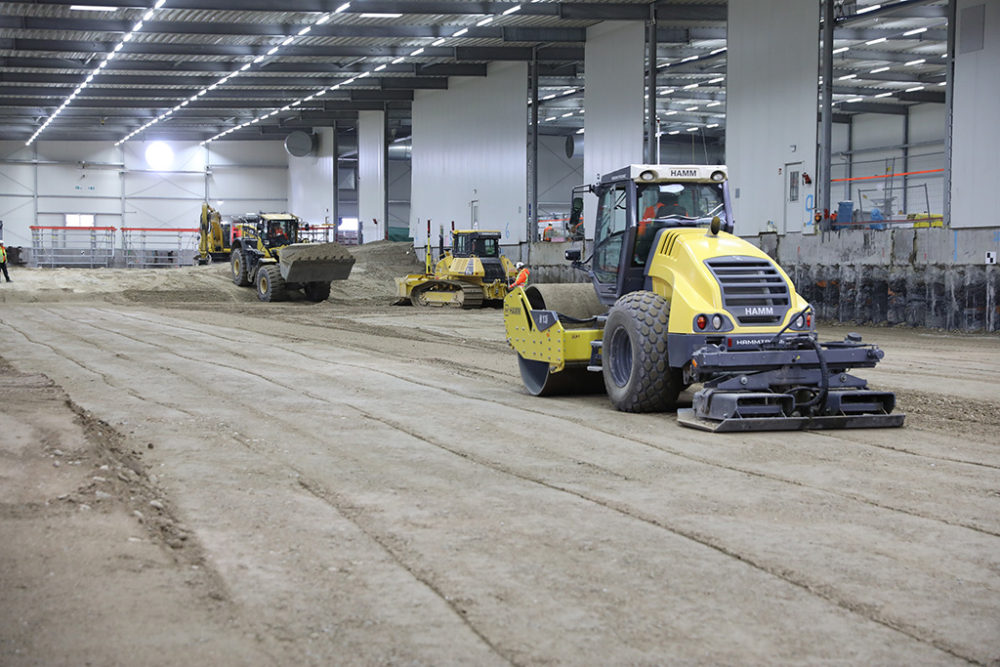 Im Baufeld Süd sind rund 108.500 Tonnen sauberes Erdmaterial eingebracht worden. Quelle: Pressefoto Roche.