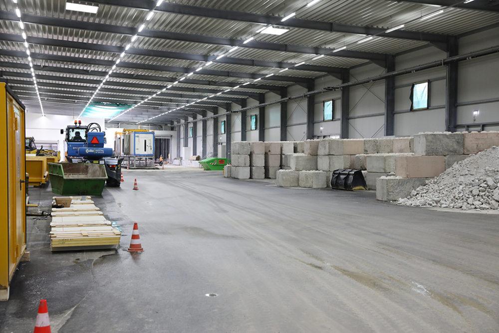 Das Baufeld Süd dient während der Sanierung des Baufeldes Mitte als Logistik- und Lagerfläche.